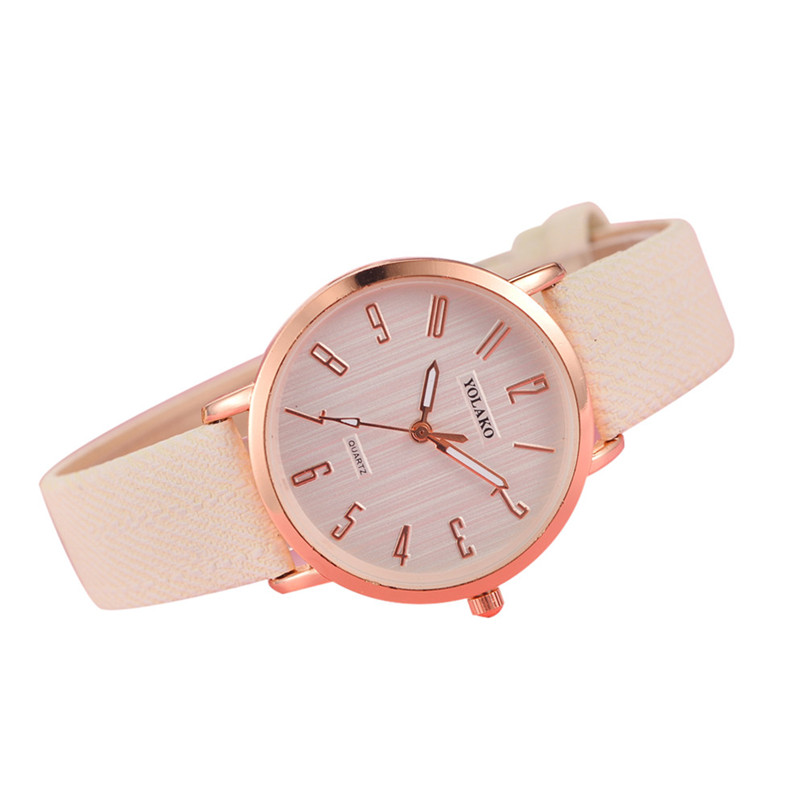 Luxury Women Quartz Wristwatches Brand Faux Leather Quartz Analog Watch Fashion Male Clock Roman Numberals Business Hot Sale 5N ...