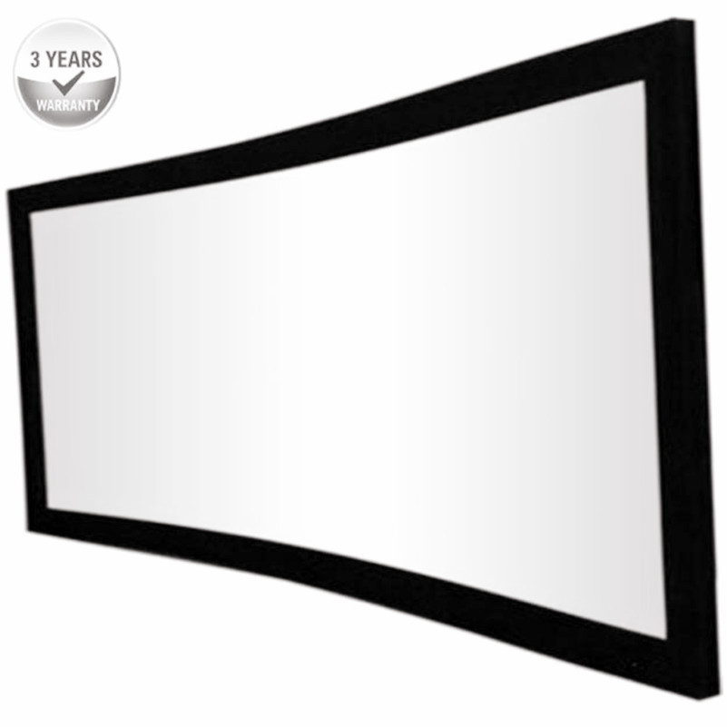 F3WCW 16 9 HDTV Cinema White best quality 4K Curved Fixed Frame home theater font b