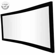 F3WCW-16:9 HDTV Cinema White best quality 4K Curved Fixed Frame home theater Projector Projection Screen- White material