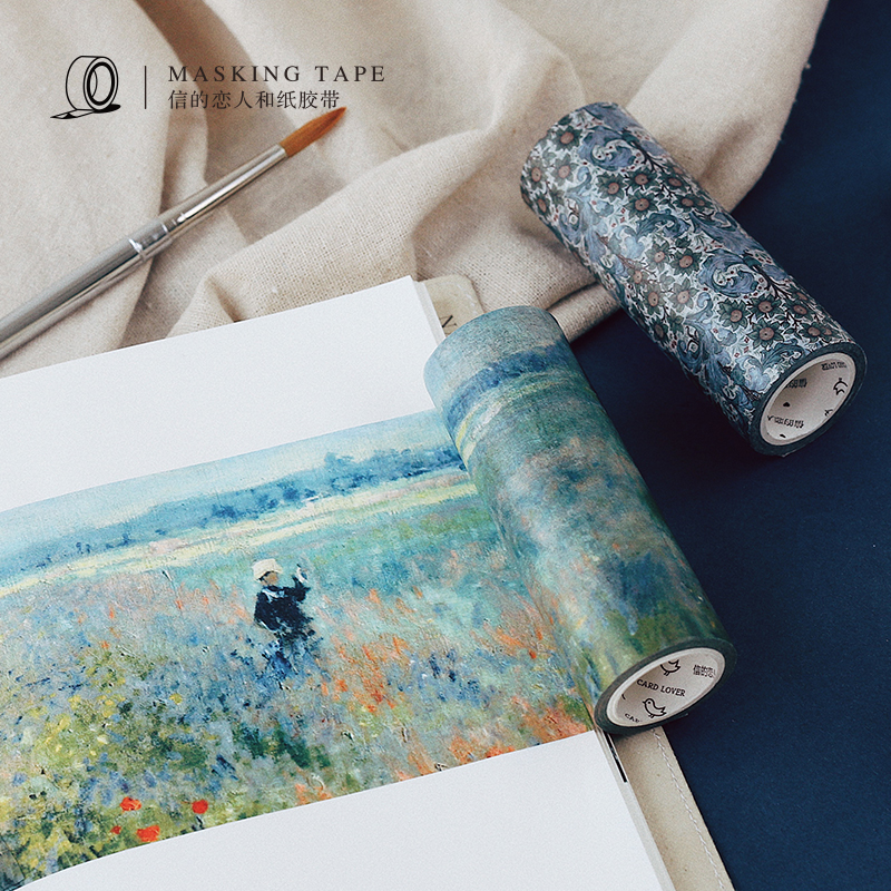 1 pcs Washi Tapes DIY Japanese Paper Vintage Monet Masking tape Decorative Adhesive Tapes Scrapbooking Stickers Size 100cm*5m large size 200mm 5m map poste letter renaissanc japanese washi decorative adhesive tape diy masking paper tape sticker