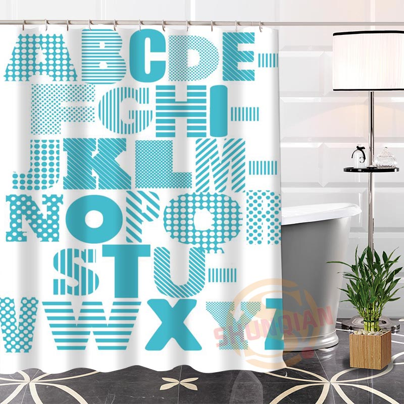 Charming Best Nice Custom English Alphabet Shower Curtain Bath Curtain Waterproof  Fabric For Bathroom MORE SIZE WJY#53 In Shower Curtains From Home U0026 Garden  On ...