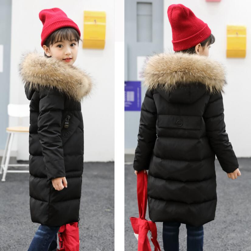 1fe275a63f21 2018 Snow Wear Teen Baby Girl Winter White Duck Down Jacket Coat ...