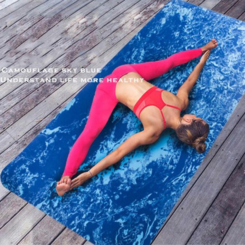 TPE Non-Glissement Tapis De Yoga pour L'exercice de Remise En Forme Gymnastique Tapis Camouflage Épaississement Augmenter Large Body Building Sport Yoga Coussin