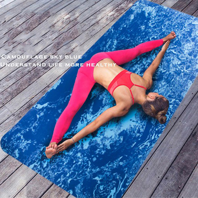 TPE Non-Slip Yoga Mat for Fitness Exercise Gymnastics Mats Camouflage Thickening Increase Wide Body Building Sports Yoga Cushion 183x61x0 6cm none slip yoga mat tpe with bag and rope double layers fitness gym exercise mat gymnastics mats