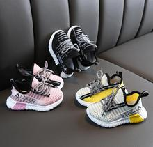 Kids Girls Shoes Boys Sneakers Autumn Mesh Net Breathable Sport Boys Canvas Shoes Soft Child Toddler Shoes Kids Running Shoes cheap Fits true to size take your normal size Mesh (Air mesh) Lace-Up Solid Spring Autumn Children Cotton Fabric Unisex casual shoes