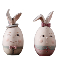 2 pieces for a lot Resin Rabbits for Living Room Decoration Art Craft Gift Rabbit