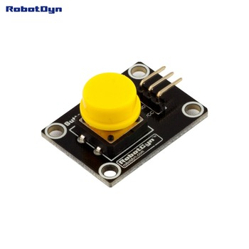 Button Key Switch Module (YELLOW). With LED Light Of Action.