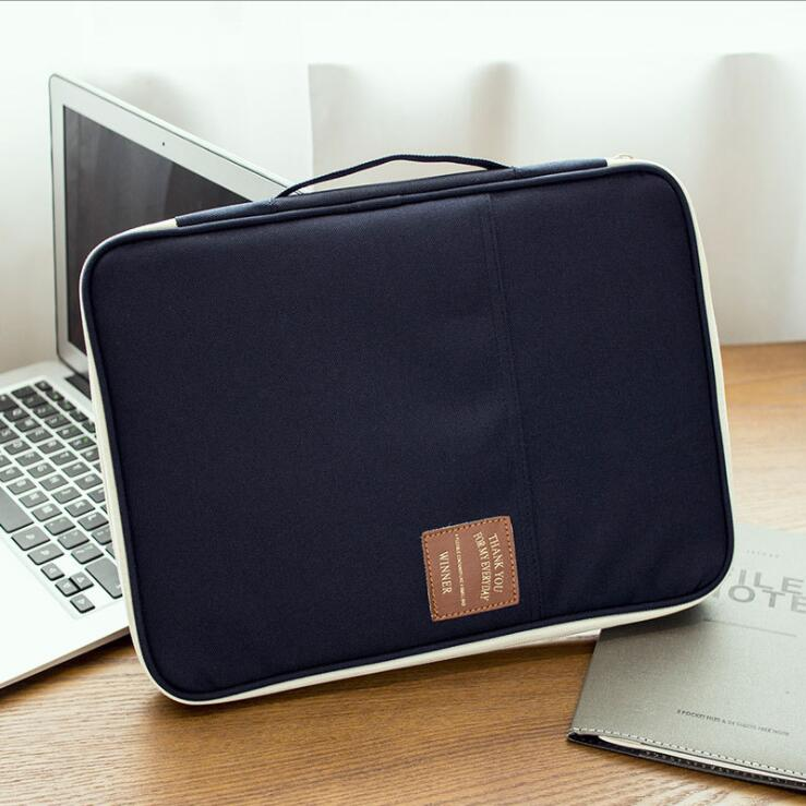 Multifunctional Waterproof A4 File Folder Document Organizer Bag Desk Storage Bags Business Travel Tablet Pencil Bag Men Women