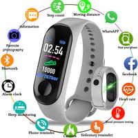 Pulsera de reloj inteligente M3 para hombre y mujer, Monitor de ritmo cardíaco, resistente al agua, rastreador de Fitness, banda inteligente, Color de alta definición