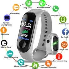 Relógio inteligente esportivo feminino m3, smartwatch e bracelete com acompanhamento fitness e monitor de pressão sanguínea e ritmo cardíaco, colorido, alta definição, band