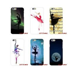 Для samsung Galaxy S4 S5 мини S6 S7 край S8 S9 S10 плюс Примечание 3 4 5 8 9 мягкий прозрачный охватывает красивые балетки Балерина