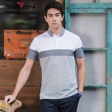Seven7 Brand Fashion Men Polo Shirt 2017 New Summer Patchwork Color 100% Cotton Polo Shirt Short Sleeve  Polo Shirt 112T58500