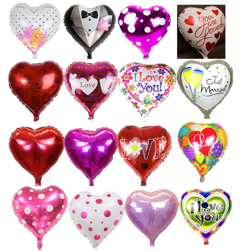 High Quality 5pcs/lot 18'' I LOVE YOU Balloon Valentine day Wedding Decorations party supplies Heart shape love foil balloons азбукварик мастер на все руки