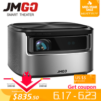 JMGO N7 проектор Full HD, 1300 ANSI люмен, 1920*1080 P. Умный домашний кинотеатр Beamer. Поддержка 4 K, 3D проектор