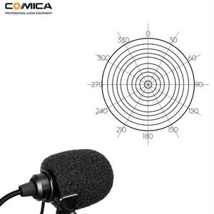 Image 4 - Comica CVM D02 podwójny Lavalier Lapel mikrofon Clip on wywiad mic dla iPhone Android Smartphone dla Sony Canon Nikon aparaty