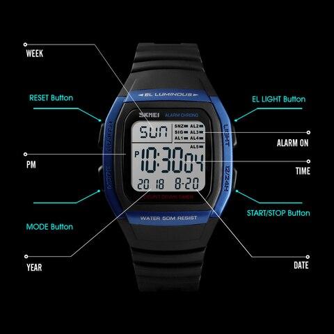 SKMEI Fashion Men Watches Sports Digital Watch Waterproof Alarm Man Wrist Electronic Clock Men Relogio Masculino Islamabad