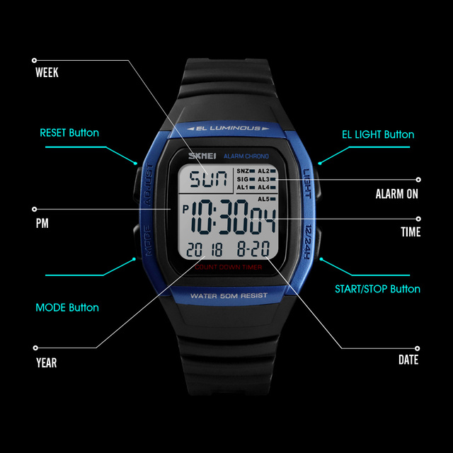 Men Sports Digital Watch
