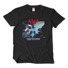 2017 new summer rock rap N.W.A Straight outta compton out of Compton short sleeve t-shirt cotton fashion men t shirt