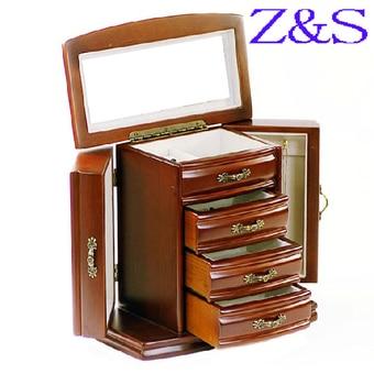 luxurious wooden jewelry box