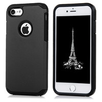 Luxury Heavy Duty Armor Shockproof Case For iPhone 7 Hard Plastic+Soft TPU Hybrid Protective Silicone Back Cover For iPhone7 4.7
