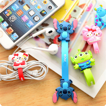 10pcs/lot Cartoon Cable Winder Earbud Silicone Cable Cord Wrap Cable Wire Organizer Earphone Cord Holder Clip Headphone Winder