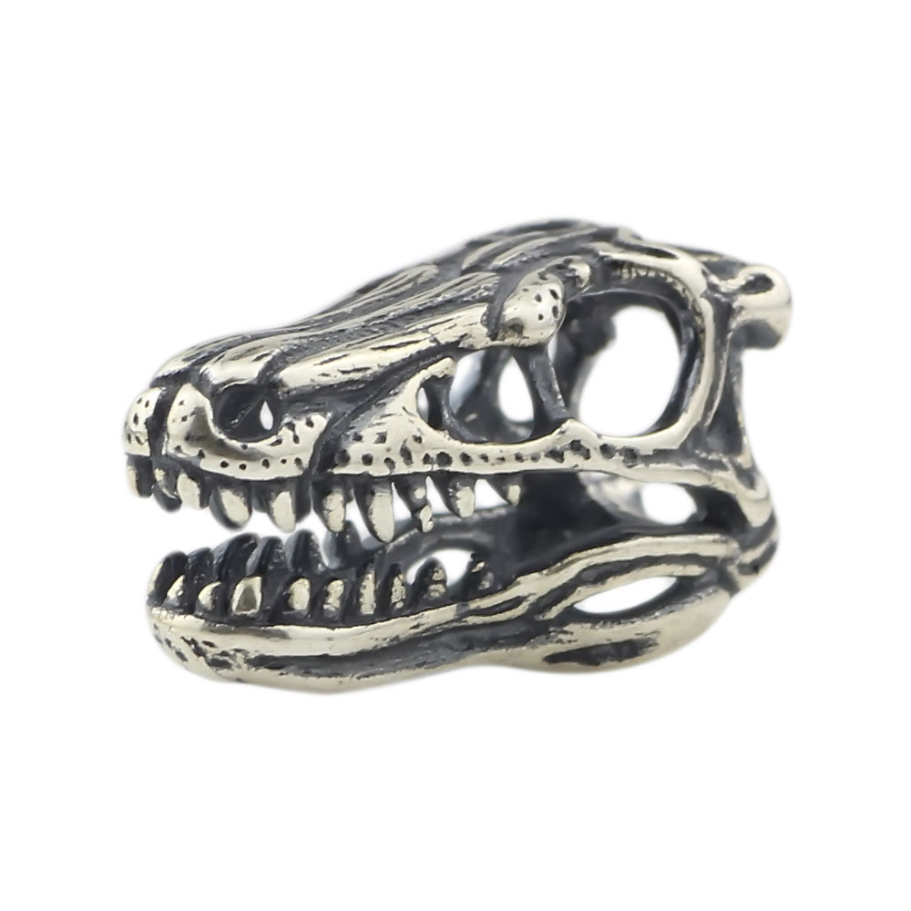 Velociraptor Skul Beads Jewelry 925 Sterling Silver Beads Charms Fit European Bracelet DIY Jewelry For Beads jewelry making
