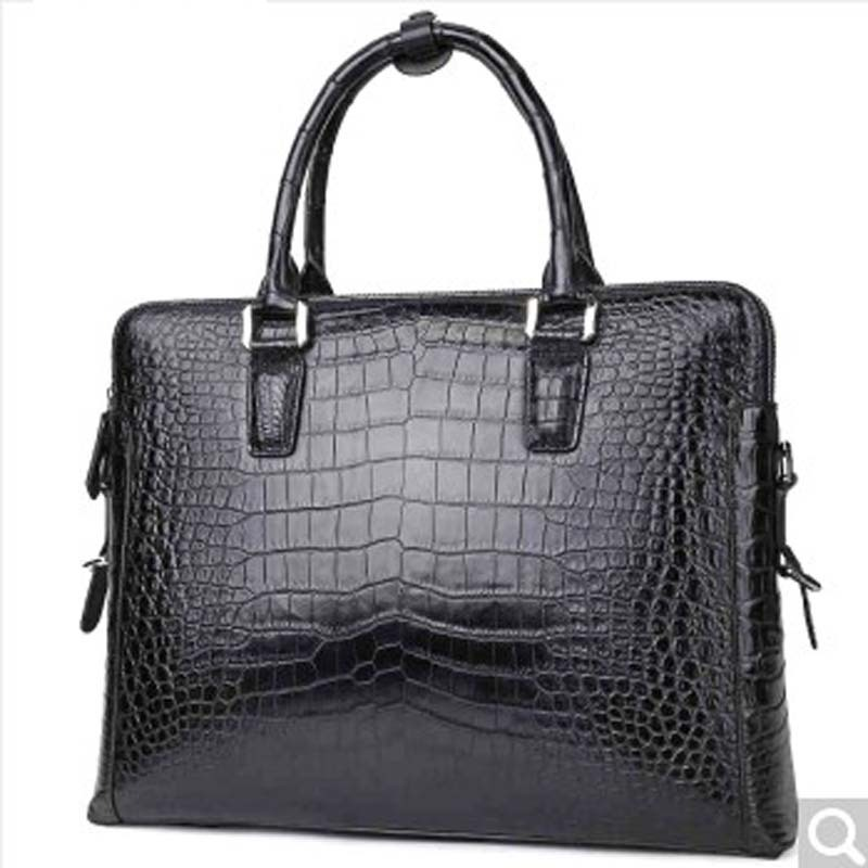 feikebeike New imported real crocodile leather men's handbag business briefcase high-end atmospheric grade crocodile bag 100g bag vitamin d3 food grade 98% usa imported