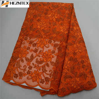 African Sequins Lace Fabric 2019 High Quality Orange Laces French Tulle Lace Swiss Voile Lace Fabrics For Wedding Dress PSA499-1 - DISCOUNT ITEM  48% OFF All Category