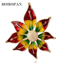 New Sun Flower Glazed Glaze Brooch Collar Pin Fashion Colored Sunflower Brooches For Women Personalized Clothing Accessories