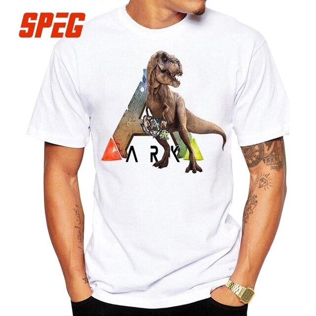Design T Shirt Ark T Rex Ark Survival Evolved Menu0027s Man Crewneck Short  Sleeved T