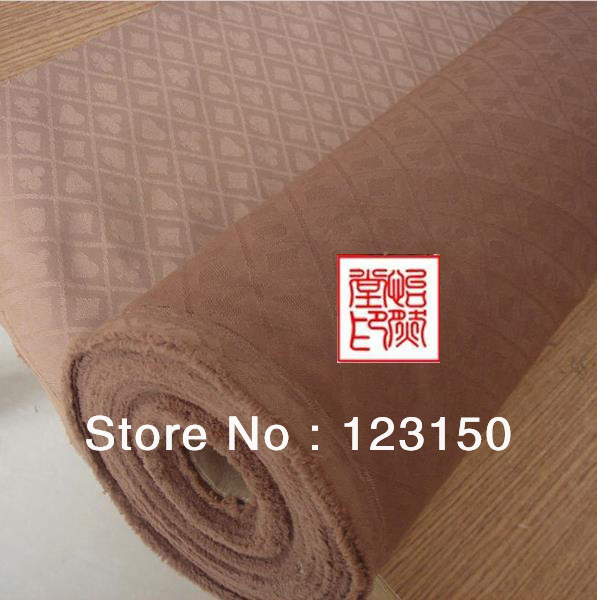 ZB 025 1 Chocolate Poker Table Waterproof Suited Speed Cloth, Width 1.5M