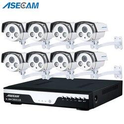 8CH PoE 1080 P NVR system CCTV 2.0MP na zewnątrz tablicy kamera IP HD rejestrator kamera bezpieczeństwa do monitoringu nadzoru najlepsze widzenie w nocy w Systemy nadzoru od Bezpieczeństwo i ochrona na