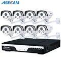 8CH PoE 1080P NVR CCTV система 2.0MP открытый массив ip-камера HD рекордер Видео Безопасности камера наблюдения лучшее ночное видение