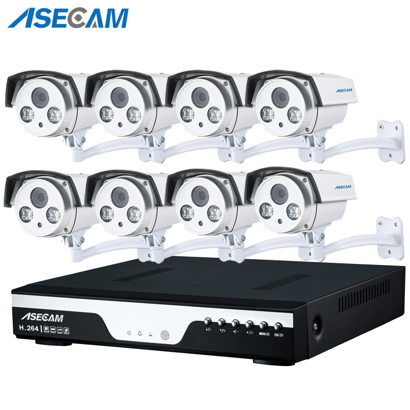 8CH PoE 1080P NVR CCTV System 2.0MP Outdoor Array IP Camera HD Recorder Video Security Camera Surveillance Best Night Vision image