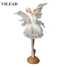 VILEAD 11.2 Resin Ballet Dancer Figurine Creative Angel Miniatures Fairy Statuettes Model Modern Crafts for Home Docor