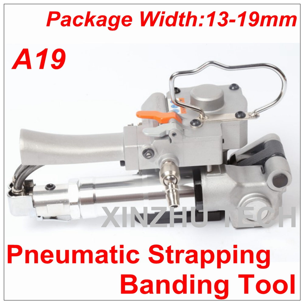 New Arrival Pneumatic Strapping Banding Tool PET/PP A19 Width 13-19mm Carton Firction Packing Machine Hand-held Binding Machine цена