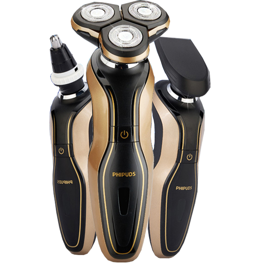 3 In 1 Mens Electric Shaver 2016 New Man 3d Waterproof
