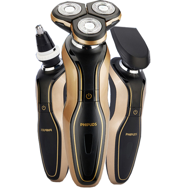 3 IN 1 Mens Electric Shaver 2016 New Man 3D Waterproof  Rechargeable Shaver Razor With Nose Hair Trimmer FQ3180