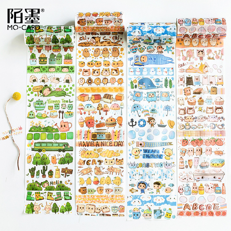 Office Adhesive Tape Office & School Supplies Steady 12 Pcs/lot 10 Cm Wide One Sprout Character Washi Tape Diy Scrapbooking Masking Tape School Office Supply Escolar Papelaria