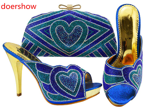 doershow charming design Italian Women Shoe and Bag Set African Matching Shoes and Bags Italian In Women Party Shoes!!SH1-4doershow charming design Italian Women Shoe and Bag Set African Matching Shoes and Bags Italian In Women Party Shoes!!SH1-4