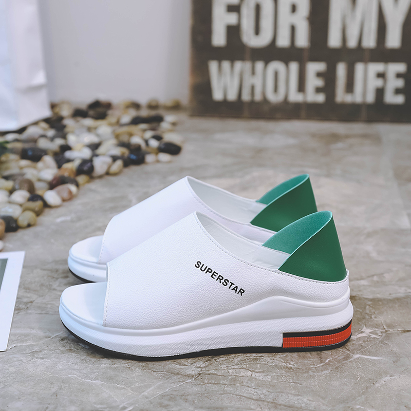 HTB1cTVMaJfvK1RjSspoq6zfNpXab 2019 New Fashion Women Sandals Summer Platform Sandal Shoes Woman Peep Toe Leather Beach Flat Casual Sandalias Mujer Plus Size