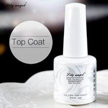 Lily angel 9ML  Top Coat Long Lasting No Sticky Gel Nail Cover Clean Free Soak Off Nai Polish