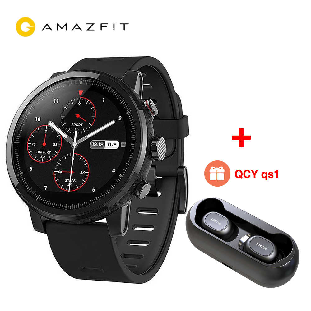 2467ce4e170a  В наличии  Global Xiaomi Huami AMAZFIT Stratos gps 5ATM водостойкие умные  спортивные часы 2
