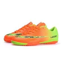 2018new Men TF Soccer Shoes Sport Football Shoes Kids Boys Indoor Turf Football Boots Soccer Futsal Cleats  Futbol Sala Hombre