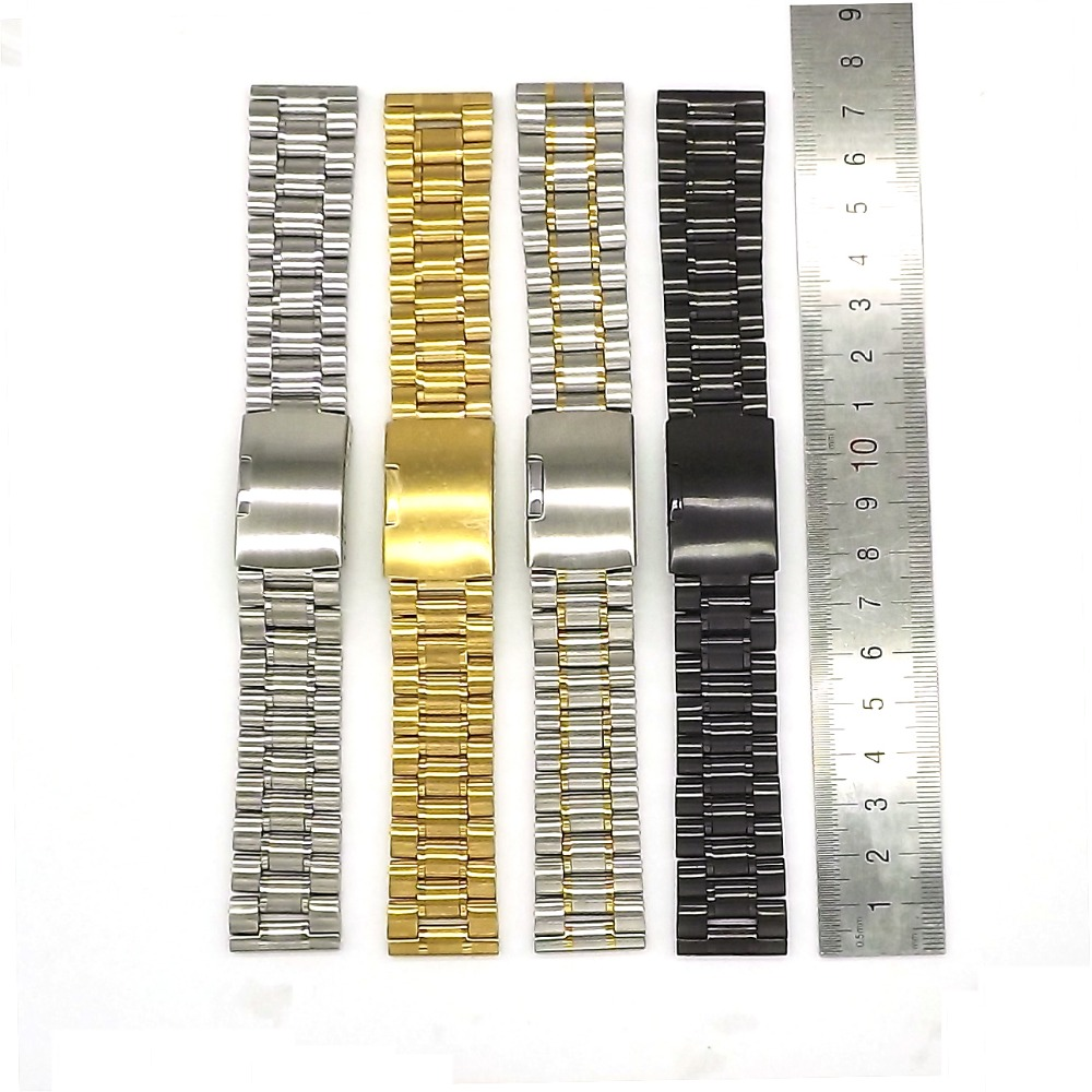 Men Stainless Steel Watch Straps 18mm 20mm 22mm 24mm Watch Bracelet  Watchband With Smooth Headin Watchbands From Watches On Aliexpress   Alibaba Group