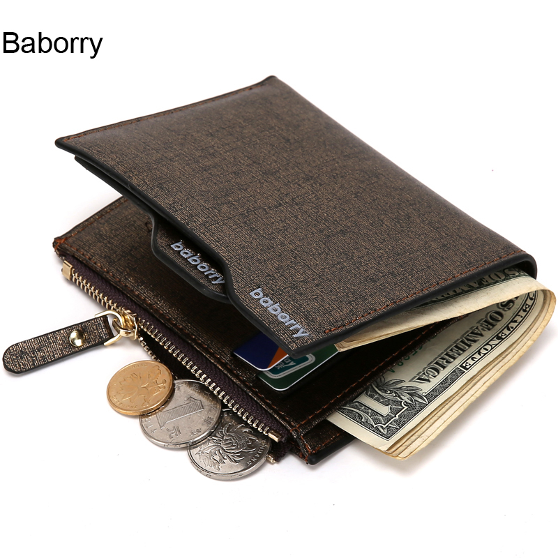 Fashion New Mens Wallets Bifold Drivers License Bit ID Card Holder Coin Pockets Purse Clutch With Zipper Golden Blue Colors