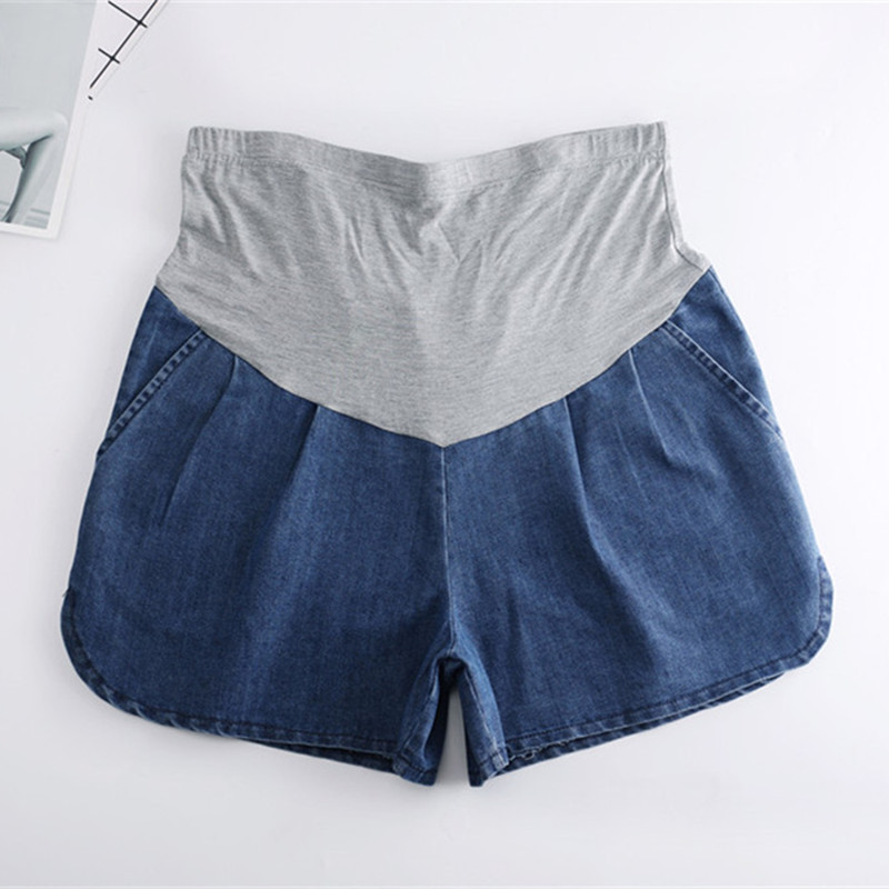Summer New Loose Shorts Maternity Jeans Pregnancy Pregnant Clothes Wide Leg Support Abdominal Thin Pants Embarazada Enceinte image