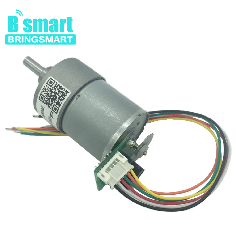 Bringsmart JGB37-3530A DC Mini Motor Optical Encoder 24V DC Gear Motor 12V Photoelectric Encoder 12-1600rpm for DIYBringsmart JGB37-3530A DC Mini Motor Optical Encoder 24V DC Gear Motor 12V Photoelectric Encoder 12-1600rpm for DIY