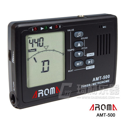 US $12 99 |AROMA AMT 500 3 in 1 Big Screen Metronome Tuner 30 260bpm and  Tone Generator Support Chromatic Guitar-in Guitar Parts & Accessories from