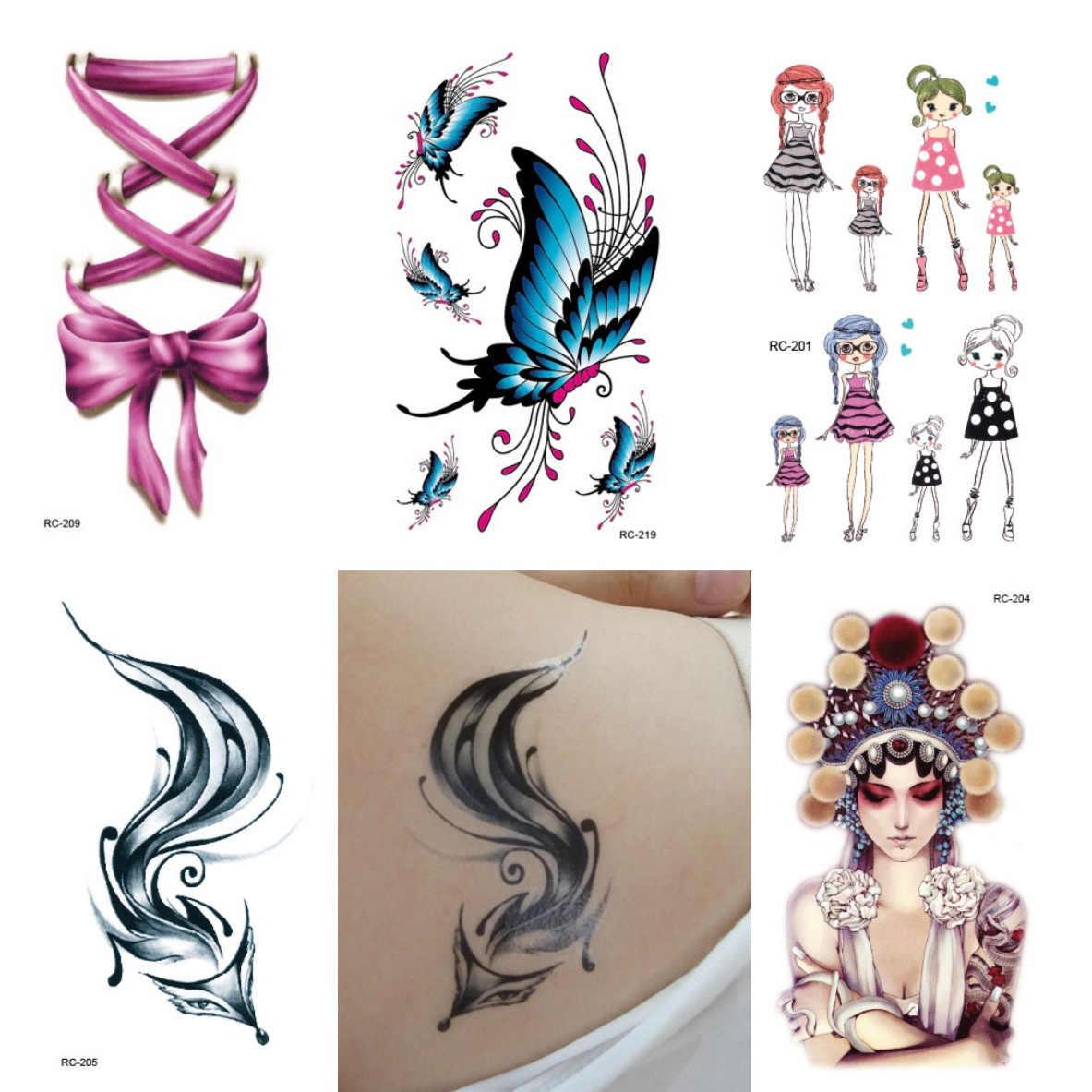 5 Pcs Random Small Temporary Children Tattoo Sticker Bird Fox Horse Dolphin Animal Designs Body Art Tattoos For Male And Female Temporary Tattoos Aliexpress